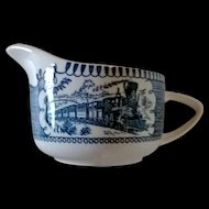 Royal China Currier & Ives Blue Creamer