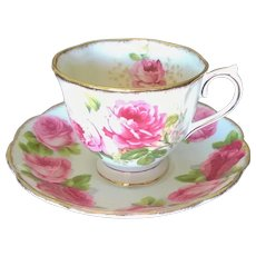 Royal Albert Old English Rose & American Beauty Cup & Saucer Set
