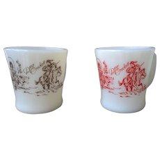 Vintage Davy Crockett Fire King Mug