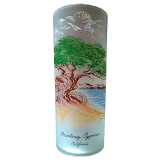 Libbey Monterey Cypress California Souvenir Highball  Glass 50's - 60's