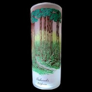 Libbey Redwoods California Souvenir Frosted Highball Glass 50's - 60's