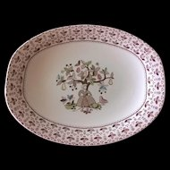"""Johnson Brothers Sugar & Spice Brown 12"""" Oval Serving Platter"""