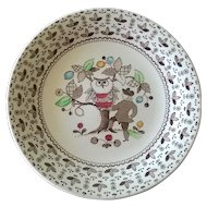 Johnson Brothers Sugar & Spice Brown Bread Plate Set