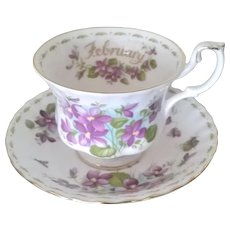 Royal Albert Flower of the Month February Cup & Saucer