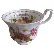 Royal Albert Christmas Rose December Flower of the Month Trio Set ~ Cup Saucer Plate