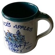 "Great Bay Pottery ""Jack's Apples"" Coffee Mug"