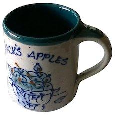 "Great Bay Pottery ""Jack's Apples"" Coffee Mug"