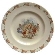 Royal Doulton Bunnykins Campsite Plate