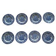 Stafforshire Liberty Blue Bread Plates (Set of 4)
