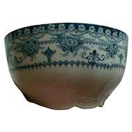 Hanley Maltese Blue Green Cranberry Bowl