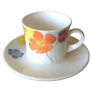 Mikasa Pretty Posies Cup & Saucer Set