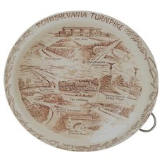 Vernon Kilns Pennsylvania Turnpike Commemorative Plate