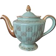Los Angeles Teapot Gold Label Kitchenware Medallion by Hall China