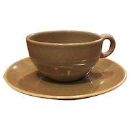 Iroquois Casual Brown Cup & Saucer Set