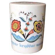 Berggren Swedish Rosemaling Pepper Shaker