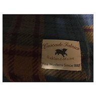 Cascade Wool Blanket Throw Blue Tartan Plaid