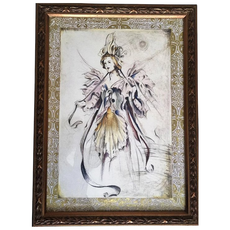 Bombay Company Framed Fairy Print Set : Annie\'s Avenue Antiques ...