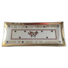 Gay Fad Bent Glass Serving Tray