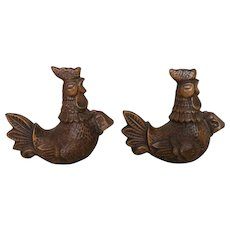Treasure Craft Brown Rooster Salt &Pepper