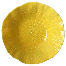 Metlox Poppytrail Lotus Bright Yellow Vegetable Bowl