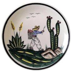 Ceramica Artistica Gomez Hand Painted Plate