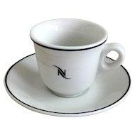 Nestle Nespresso Espresso Demitasse Cup & Saucer