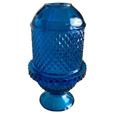 Viking Glass Glimmer Blue Bluenique Diamond Point Fairy Lamp