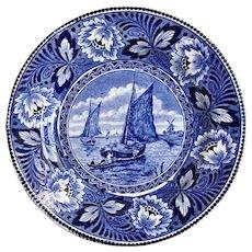 Dutch Delft Societe Ceramique Maastricht Hollandia Wall Plate