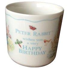 Peter Rabbit Happy Birthday Children's Mug Wedgwood