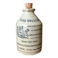 Vintage Moira Pottery Stoneware Salad Dressing Bottle