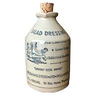 Vintage Moira Pottery Stoneware Salad Dressing Bottle