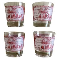 Royal China Currier & Ives Glass Set