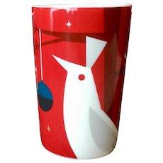 Starbucks Holiday Red Mug with Bird