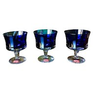 Denby Milnor Mirage Blue Champagne Tall Sherbet Glass