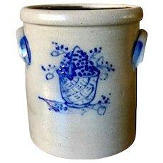 Rowe Pottery Works 1992 Salt Glazed Berry Crock Pot