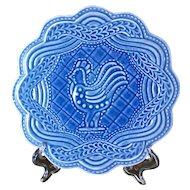 Longaberger Pottery American Craft Cornflower Rooster Trivet