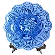 Longaberger Pottery American Craft Cornflower Rooster Trivet