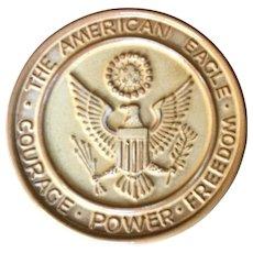Frankoma Pottery American Eagle Trivet