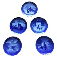 Royal Copenhagen Kai Lange Christmas Plates