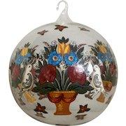 Neiman Marcus Vintage Hand Blown Christmas Glass Ball
