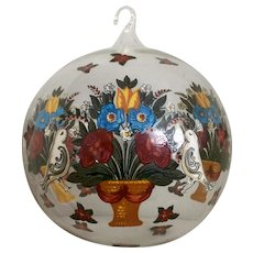 Neiman Marcus Vintage Hand Blown Christmas Glass Ball