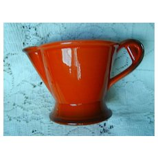 Metlox Pottery Red Rooster Creamer ~ USA
