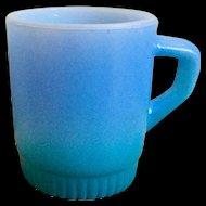 Fire King Rainbow Blue Mug