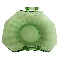 Fostoria Fairfax Green Depression Glass Bon Bon Dish