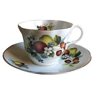 Rosina Queens Fruit & Flowers Cup & Saucer RIA89