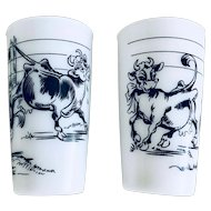 Hazel Atlas Elsie the Cow and Friends Glass Set