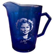 Hazel Atlas Shirley Temple Ritz Cobalt Blue Creamer