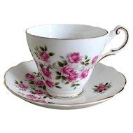 Regency Pink Roses Cup & Saucer Set