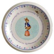 Wedgwood Peter Rabbit Christening Child's Plate