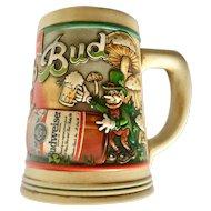 Erin Go Bud 1992 & 1993 Ceramarte St. Patrick's Beer Steins